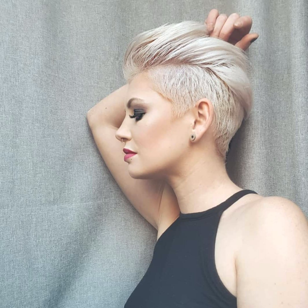 10 Edgy Pixie Haircuts For Women – Hair Style 2019 In Edgy Ash Blonde Pixie Haircuts (View 10 of 20)