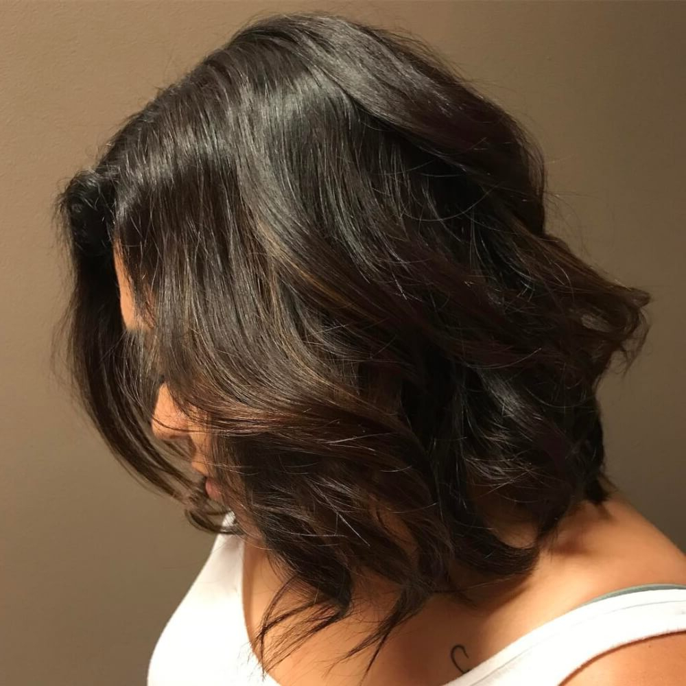 10+ Hottest Medium Length Layered Haircuts & Hairstyles For 2019 For Latest Long Black Haircuts With Light Flipped Up Ends (View 12 of 20)