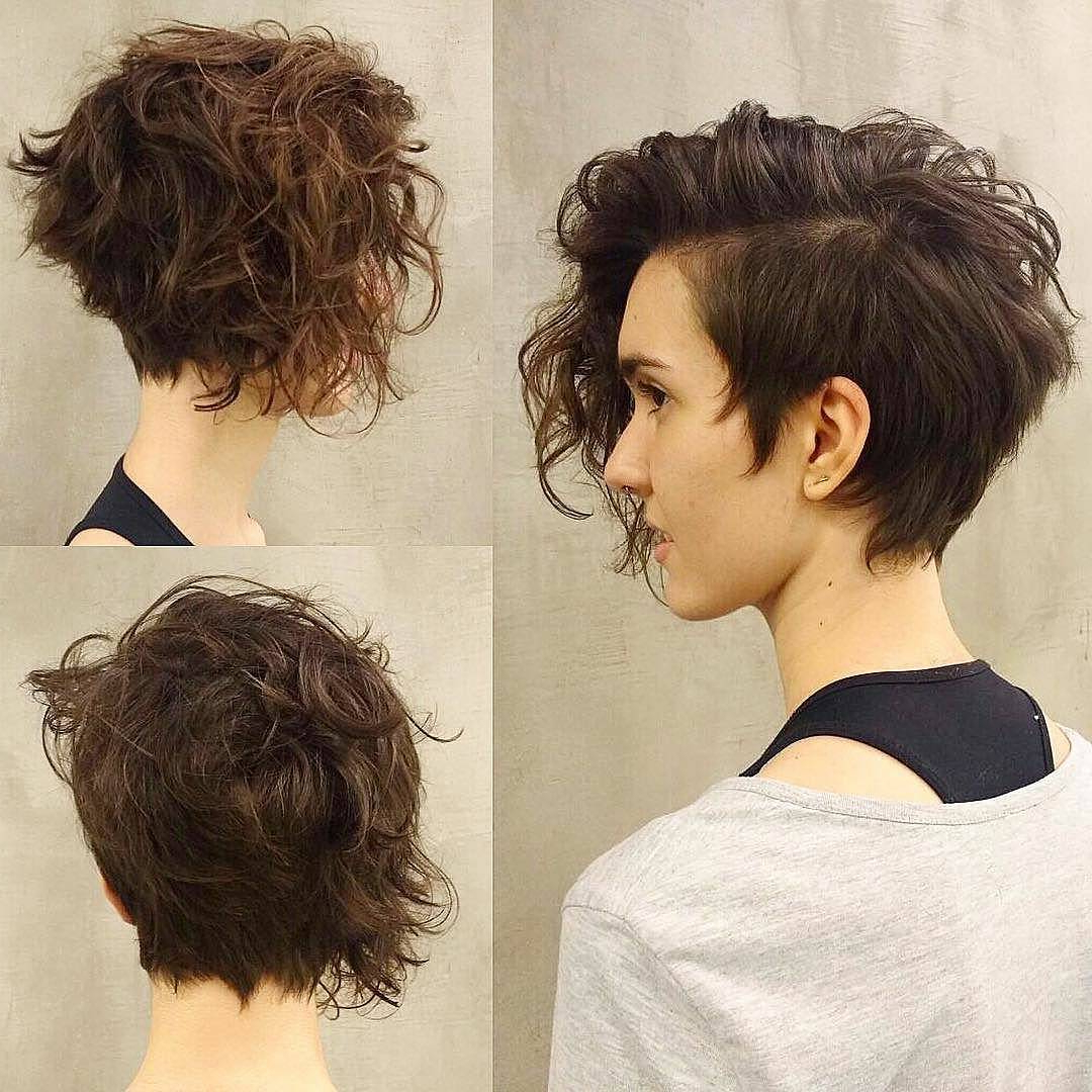 10 Long Pixie Haircuts For Women Wanting A Fresh Image In Long Curly Pixie Haircuts With Subtle Highlights (View 4 of 20)