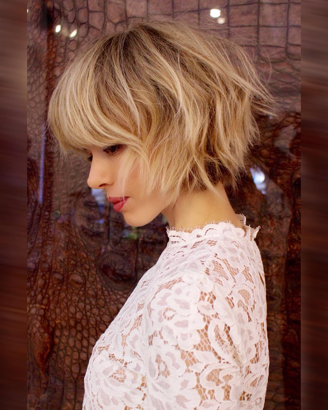 10 Short Shag Hairstyles For Women 2020 Intended For Jaw Length Shaggy Walnut Brown Bob Hairstyles (Gallery 13 of 20)
