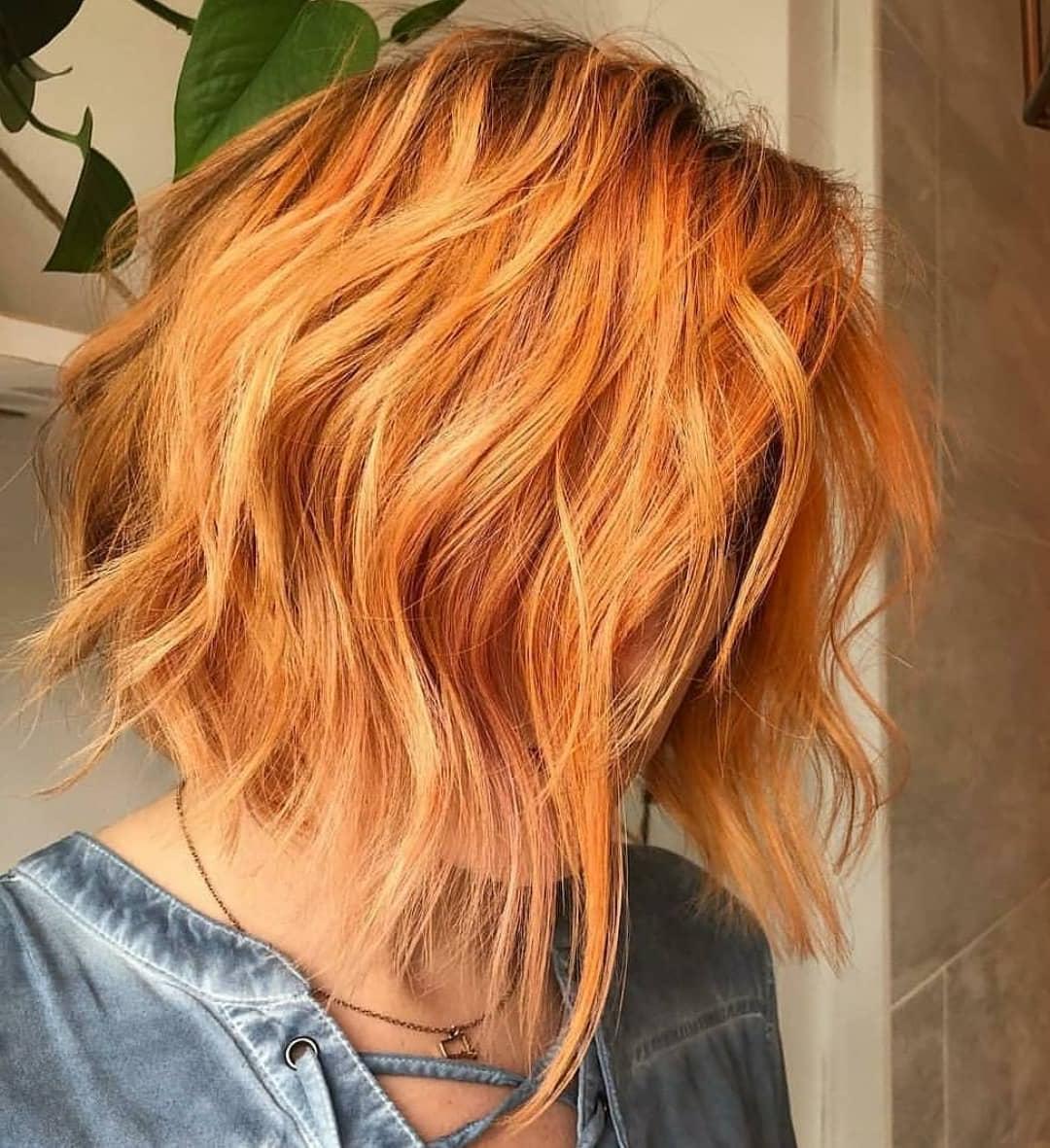 10 Trendy Choppy Lob Haircuts For Women, Best Medium Hair For Newest Tousled Auburn Bob Haircuts (View 8 of 20)