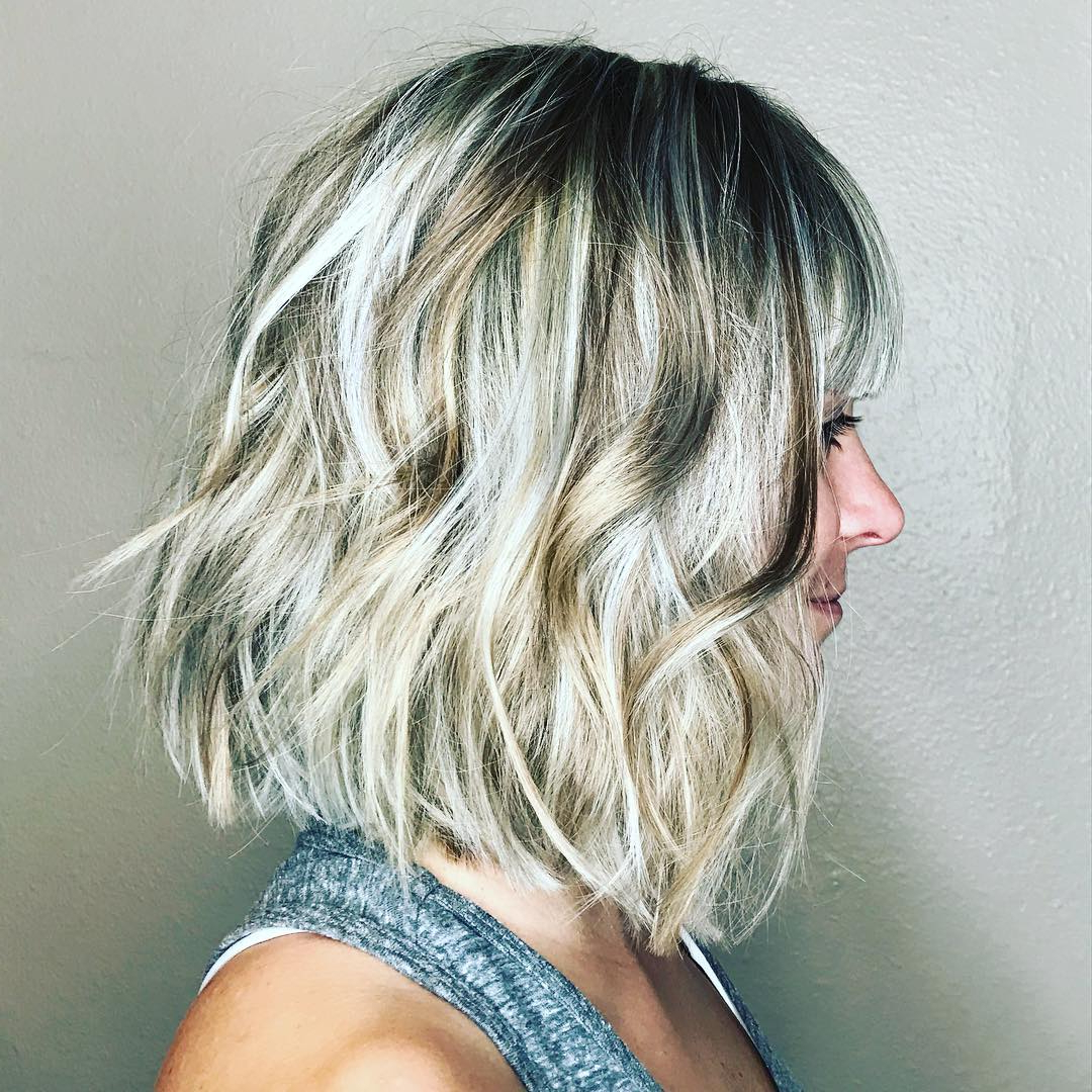 10 Wavy Haircuts For Medium Length Hair – Color Me Gorgeous Throughout Short Sliced Metallic Blonde Bob Hairstyles (Gallery 11 of 20)