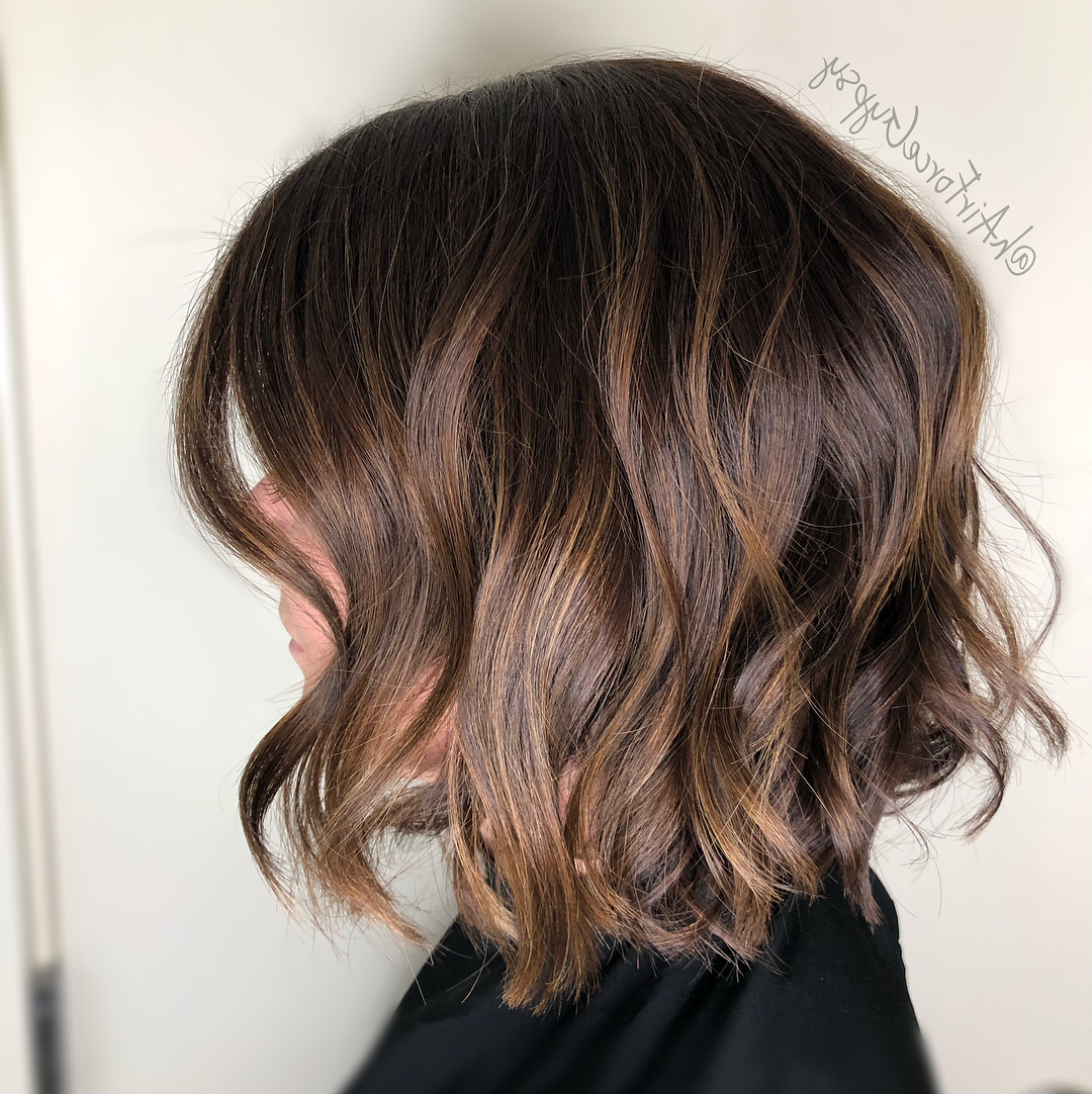 100+ Hottest Short Hairstyles For 2020: Best Short Haircuts Inside Popular Warm Brown Hairstyles With Feathered Layers (Gallery 13 of 20)