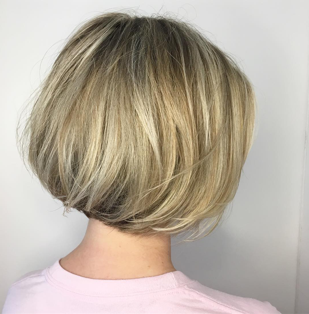 100+ Hottest Short Hairstyles For 2020: Best Short Haircuts Inside Short Sliced Metallic Blonde Bob Hairstyles (View 15 of 20)