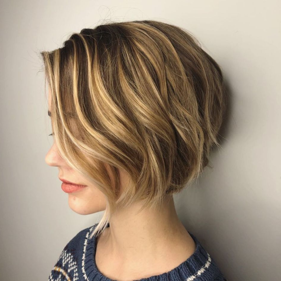 100 Mind Blowing Short Hairstyles For Fine Hair In 2019 Pertaining To Bronde Bob Shag Haircuts With Short Back (View 13 of 20)
