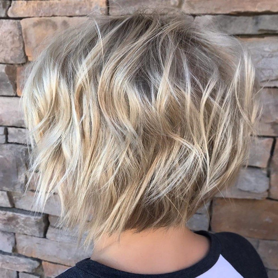 100 Mind Blowing Short Hairstyles For Fine Hair In 2019 With Choppy Blonde Bob Hairstyles With Messy Waves (Gallery 2 of 20)