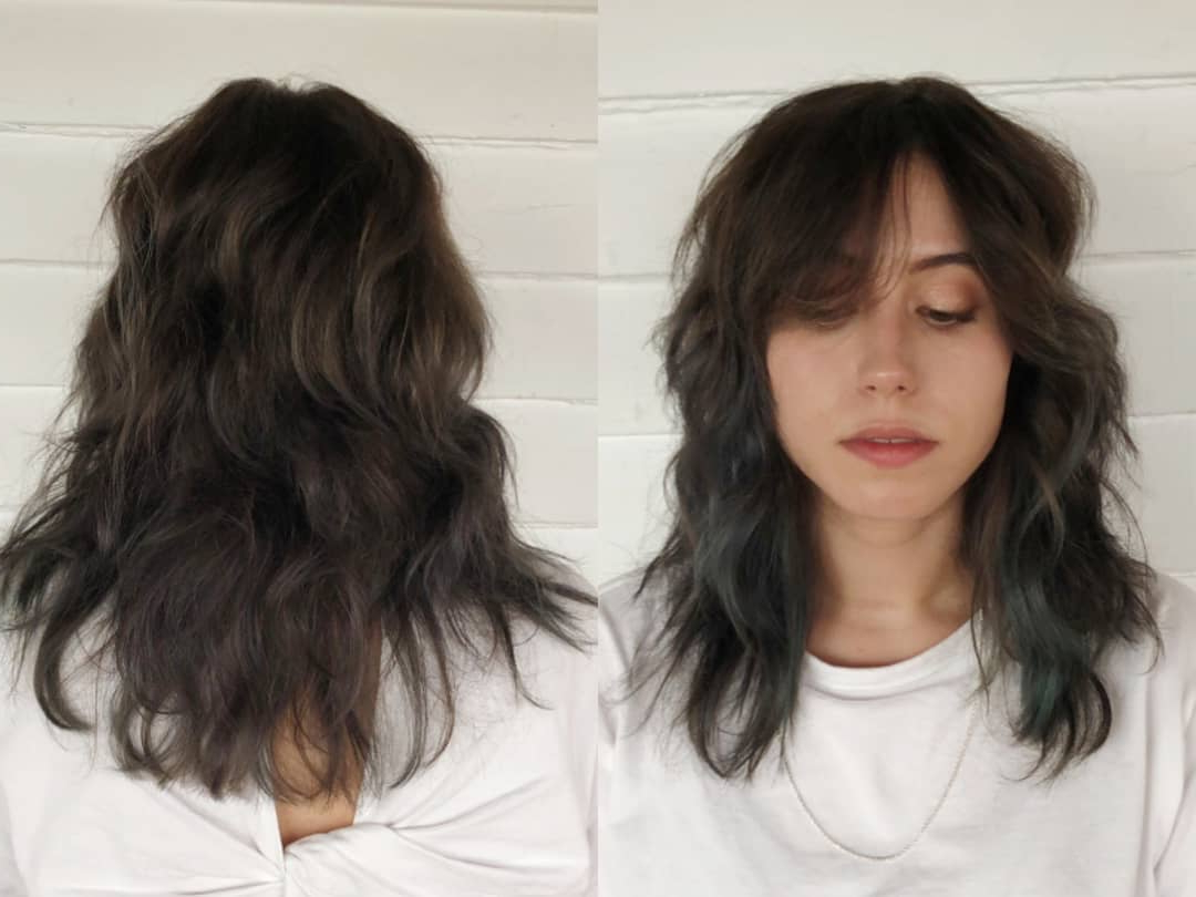 125 Coolest Shag Haircuts For All Ages – Prochronism In Current Brunette Layers Shag Haircuts With Centre Part (View 2 of 20)