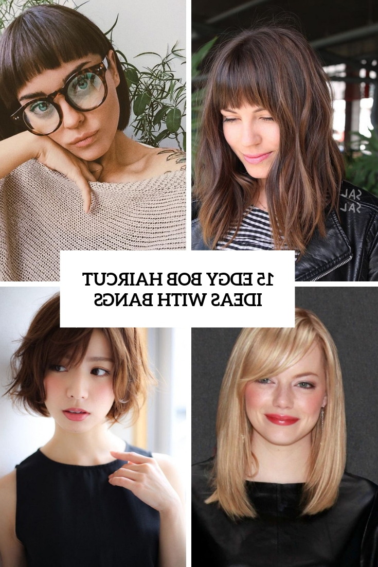 15 Edgy Bob Haircut Ideas With Bangs – Styleoholic Within Asymmetrical Grunge Bob Hairstyles (View 10 of 20)