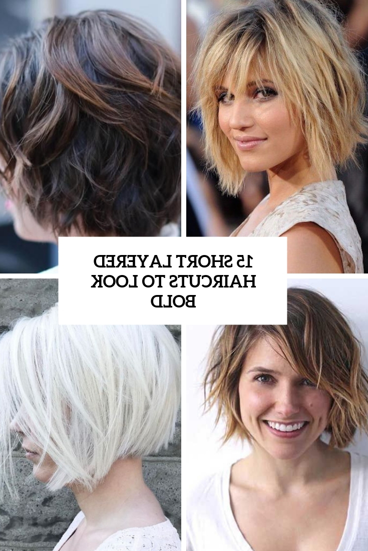 15 Short Layered Haircuts To Look Bold – Styleoholic Intended For Short Shag Haircuts With Purple Highlights (View 2 of 20)