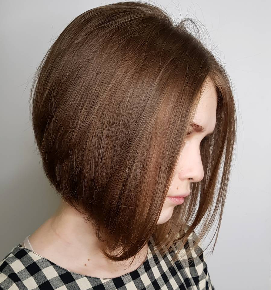 20 Bob Haircuts For Fine Hair To Try In 2019 Regarding A Line Haircuts For A Round Face (View 14 of 20)