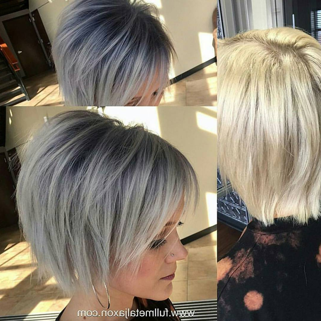 20 Fabulous Summer Hair Color Ideas – Amazing Hair Colours Inside Short Sliced Metallic Blonde Bob Hairstyles (View 10 of 20)