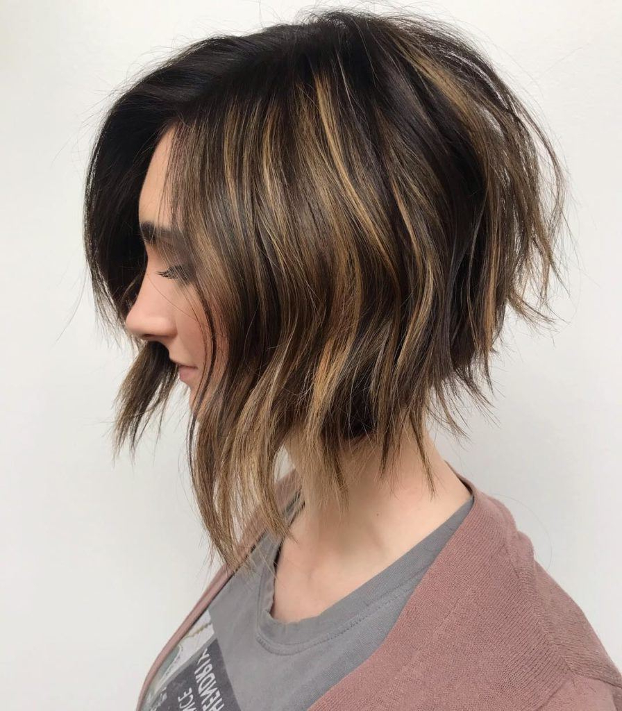 20 Hot Graduated Bob Styles For Women Of All Ages For A Line Bob Hairstyles With Arched Bangs (View 8 of 20)