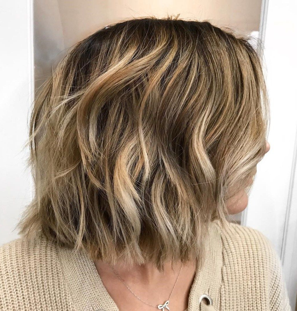 20 Long Choppy Bob Hairstyles For Brunettes And Blondes Throughout Balayaged Choppy Bob Haircuts (View 1 of 20)