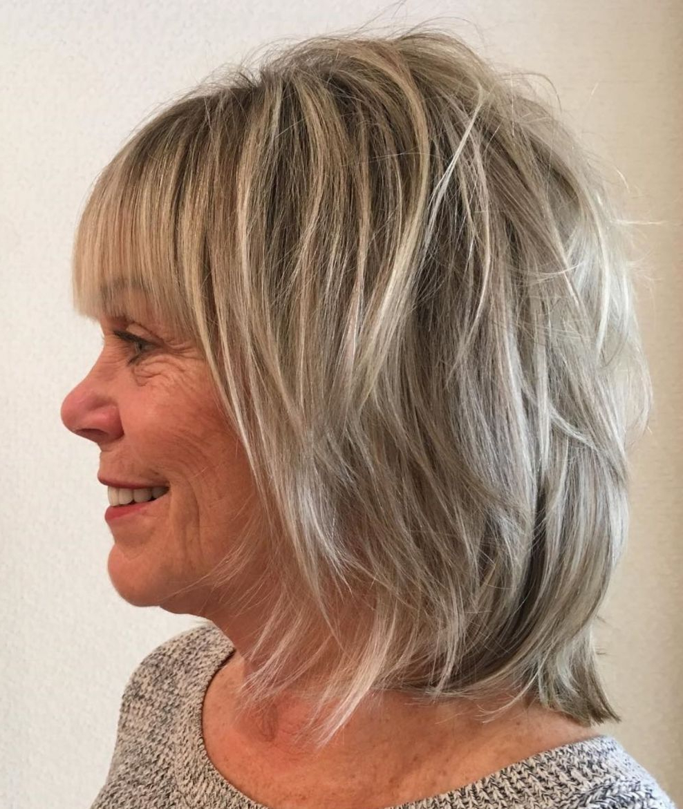 20 Shaggy Hairstyles For Women With Fine Hair Over 50 In Regarding Blonde Bob Hairstyles With Shaggy Crown Layers (View 1 of 20)