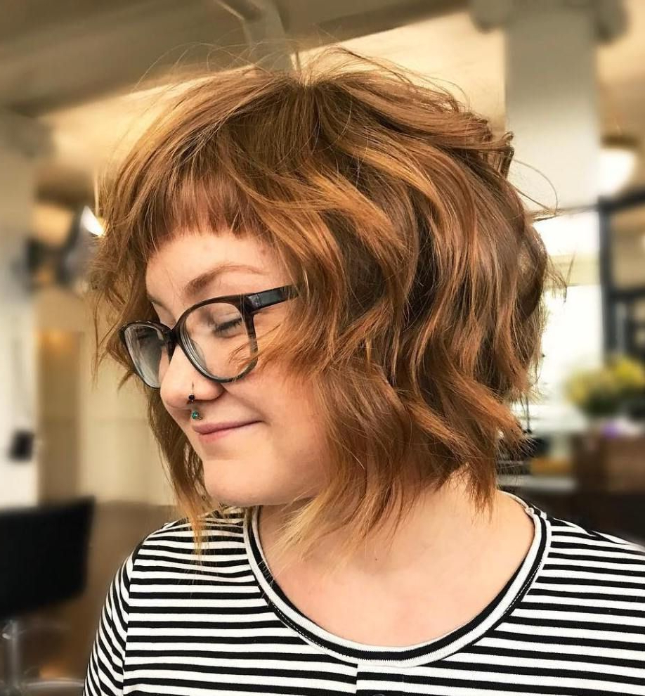 "20 Short ""baby"" Bangs That Are Trending For 2019 In 2019 Throughout Short Bob Hairstyles With Cropped Bangs (View 4 of 20)"