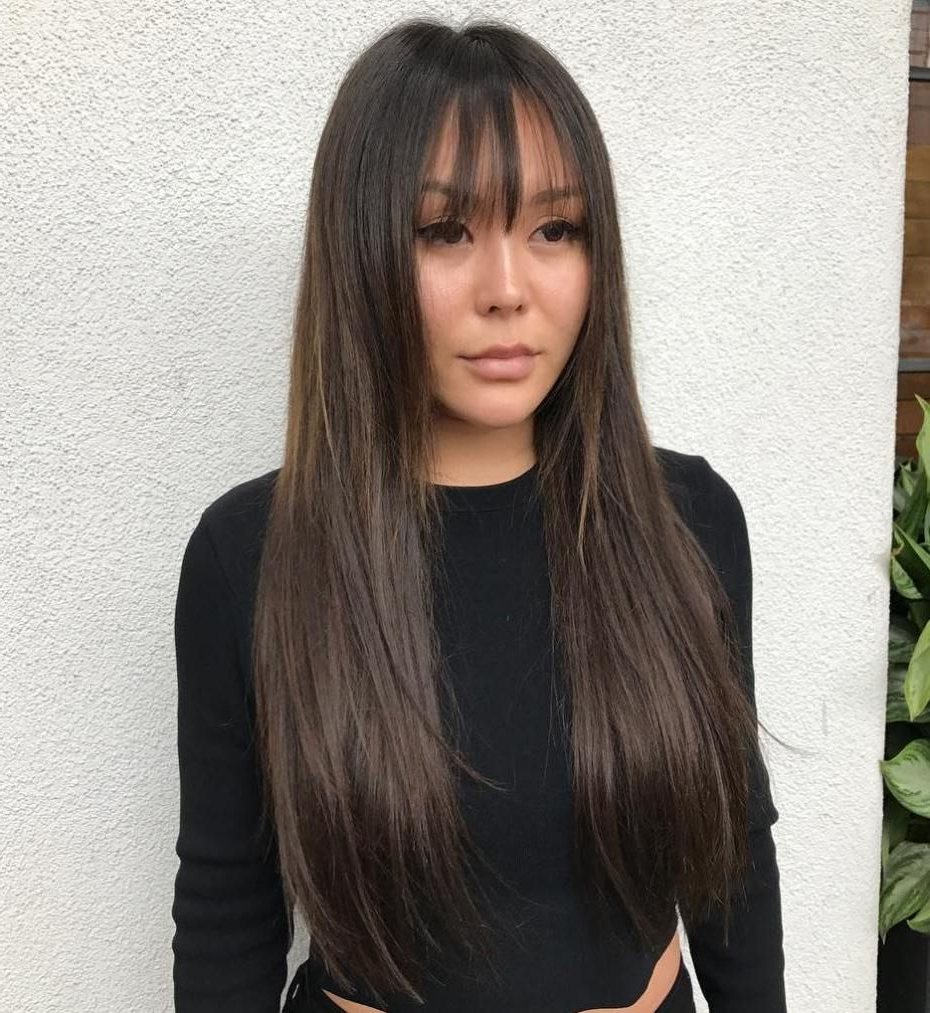 20 Wispy Bangs To Completely Revamp Any Hairstyle In 2019 For Well Known Wispy Straight Finely Chopped Brunette Haircuts (View 1 of 20)