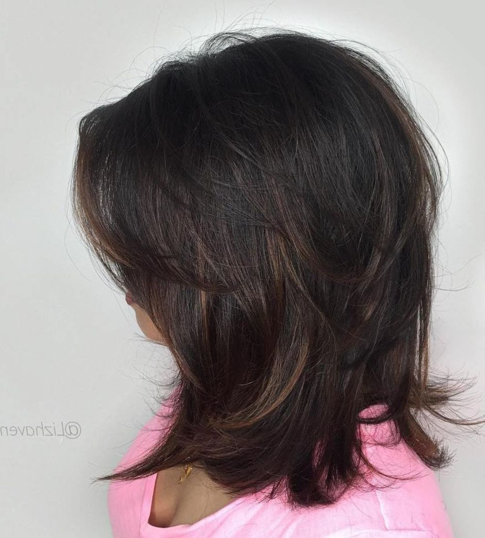 2017 Black And Brown Choppy Bob Hairstyles In 80 Sensational Medium Length Haircuts For Thick Hair In (View 14 of 20)