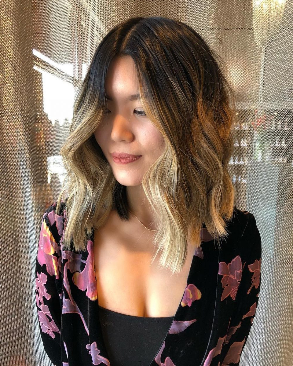 2017 Brunette Layers Shag Haircuts With Centre Part In 24 Flattering Middle Part Hairstyles In (View 6 of 20)