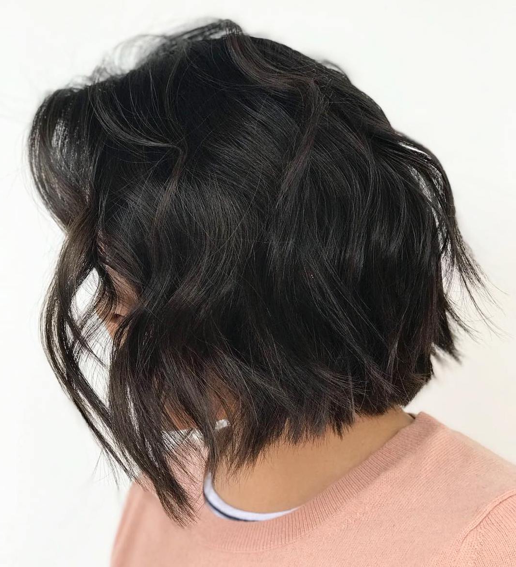 2017 Feathered Golden Brown Bob Hairstyles With Find Your Best Bob Haircut For (View 11 of 20)
