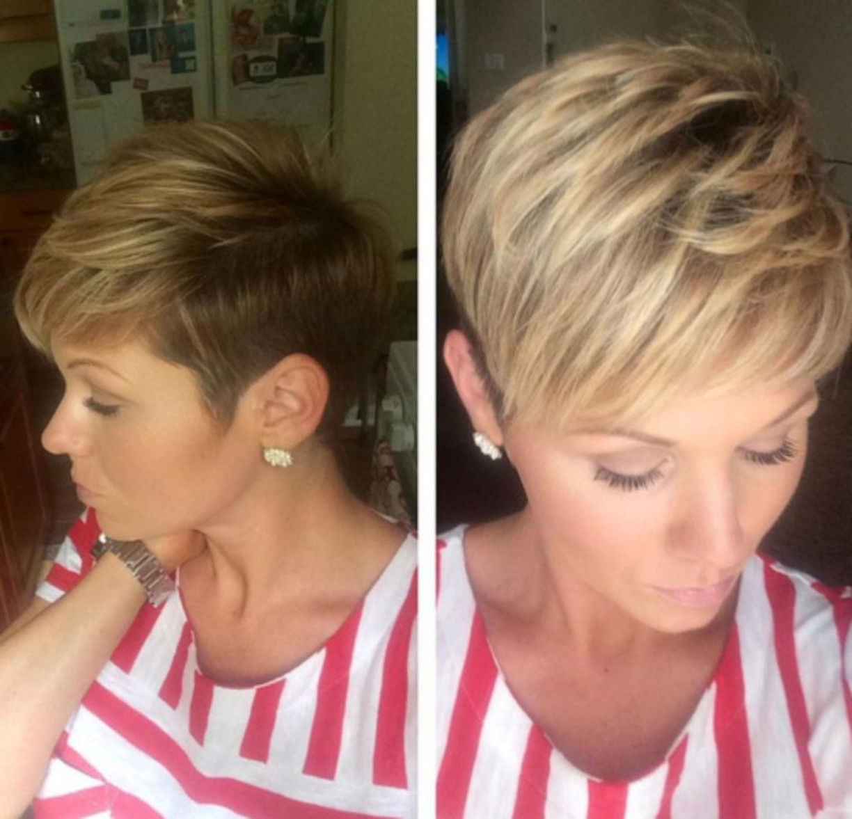 2017 Feathered Pixie Shag Haircuts With Highlights With Pin On Hair (View 3 of 20)