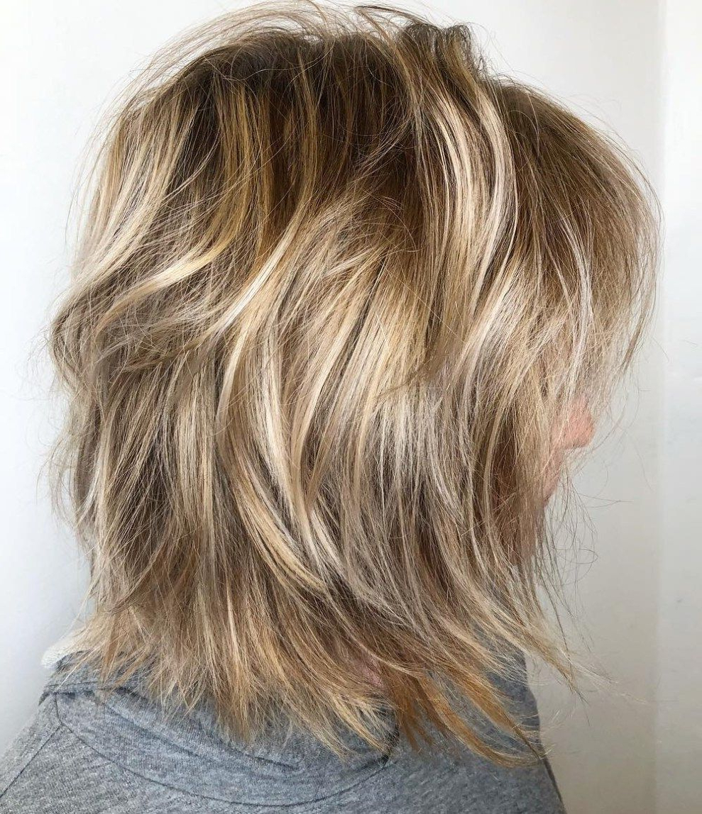 2018 Ash Brown Long Razored Shag Haircuts In 60 Most Universal Modern Shag Haircut Solutions In (View 1 of 20)