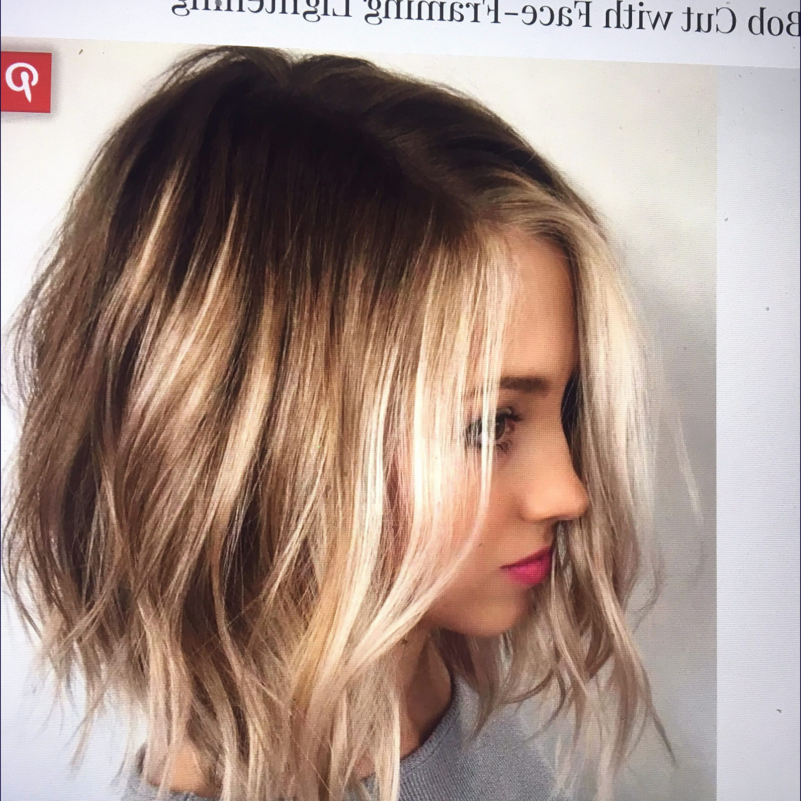 2018 Blonde Choppy Haircuts For Medium Hair Within Hairstyles : Medium Choppy Bob Awesome Aveda Wavy Long (View 4 of 20)