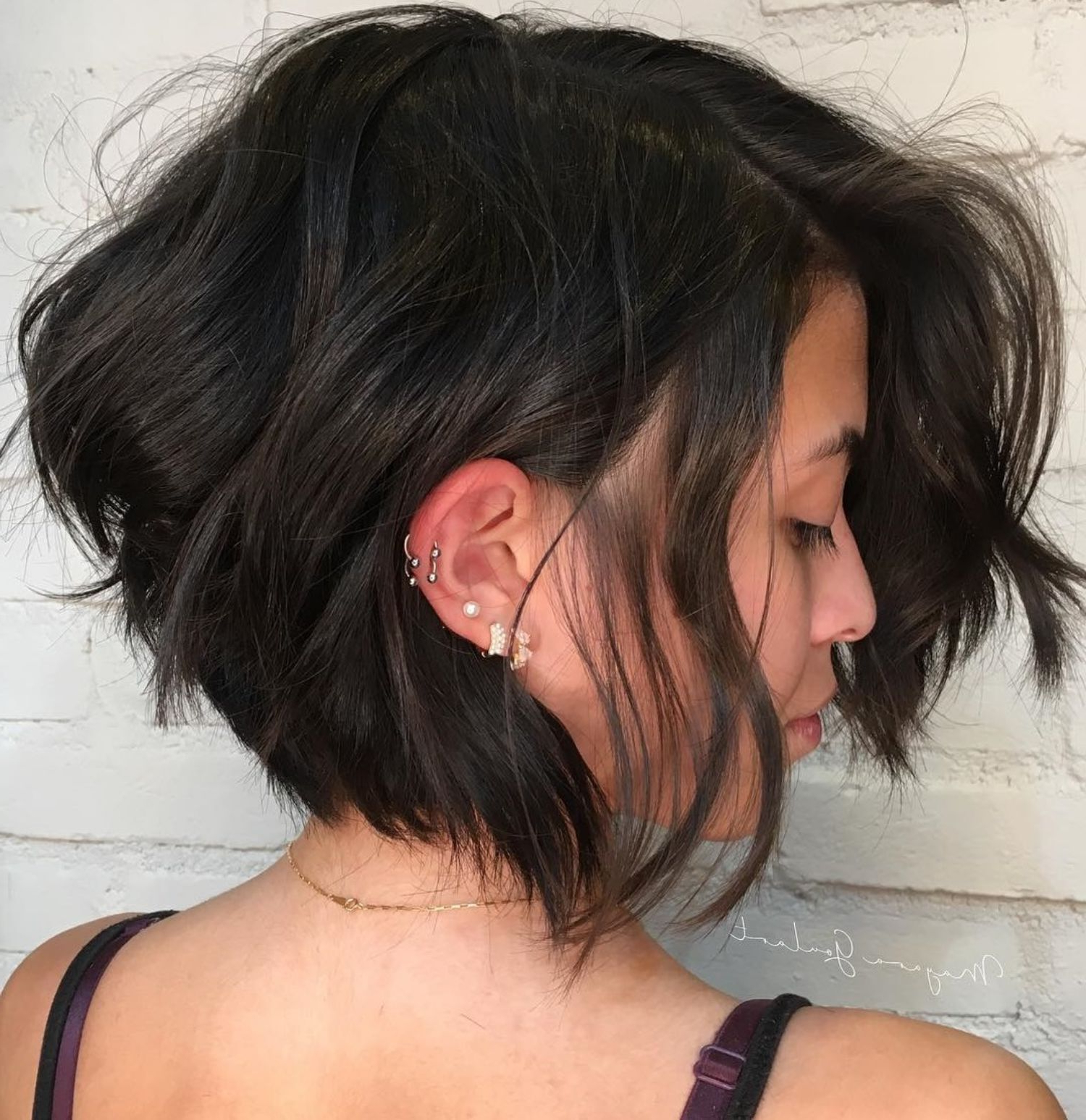 2018 Layered And Tousled Brunette Hairstyles Within Pin On Short Haircuts (View 9 of 20)