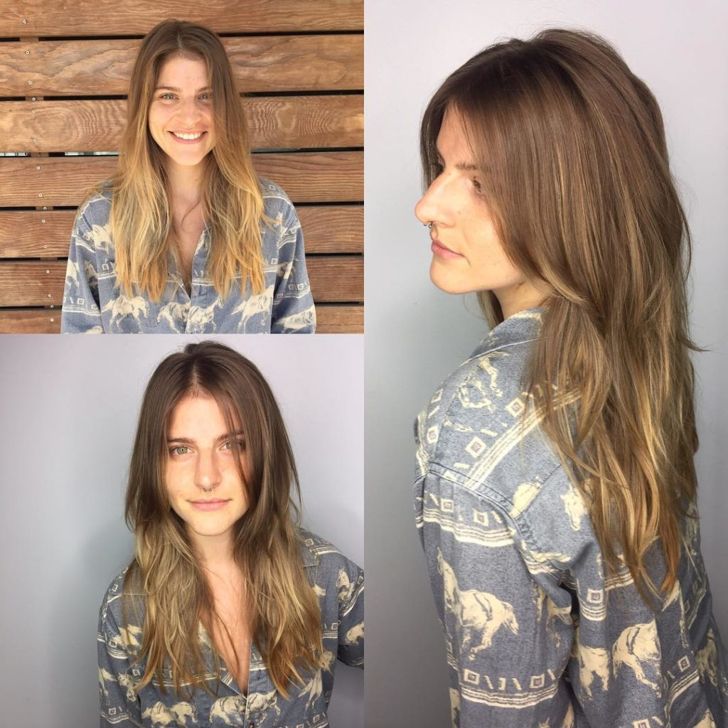 2018 Longer Textured Haircuts With Sun Kissed Balayage Within Women's Long Sunkissed Light Brown Balayage Hair With Long (View 13 of 20)