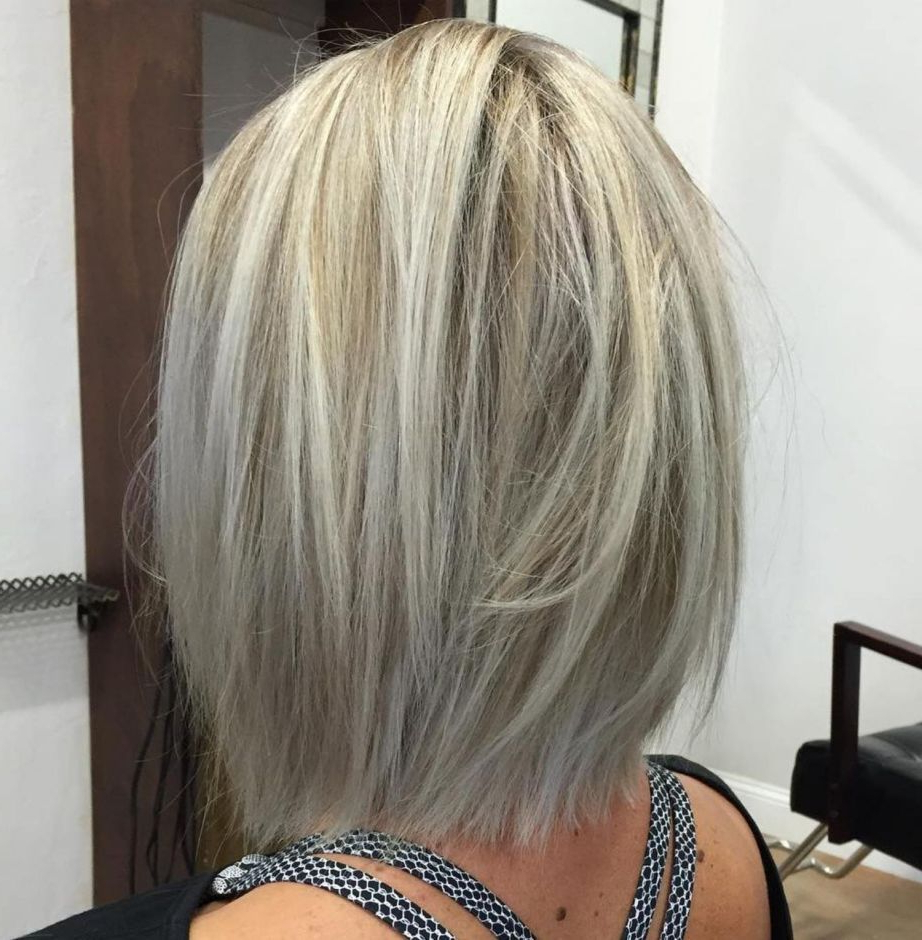 2018 Mid Length Layered Ash Blonde Hairstyles Within Pin On Ash Blonde I Want (View 8 of 20)