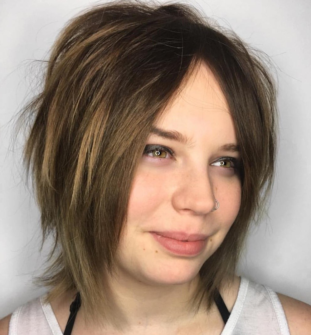 2018 Sharp Shag Haircuts With Razored Layers Regarding 50 Most Flattering Bob Haircuts For Round Faces – Hair (View 4 of 20)