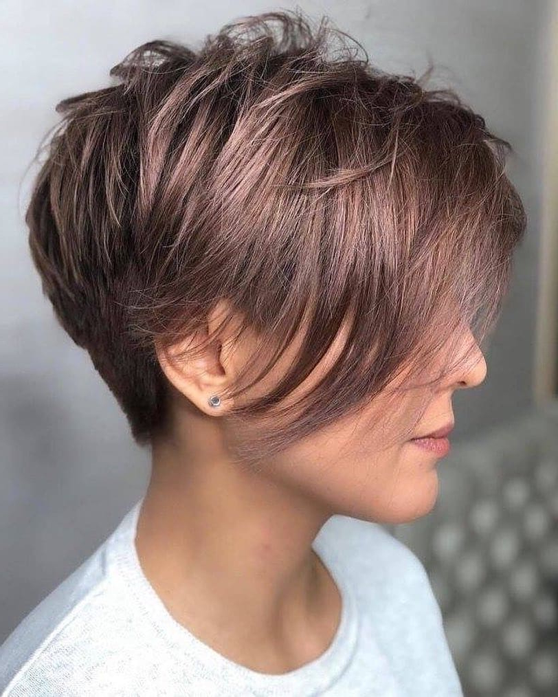 2019 Layered And Tousled Brunette Hairstyles For 35 Best Pixie Cut Hairstyles For 2019 You Will Want To See (View 18 of 20)