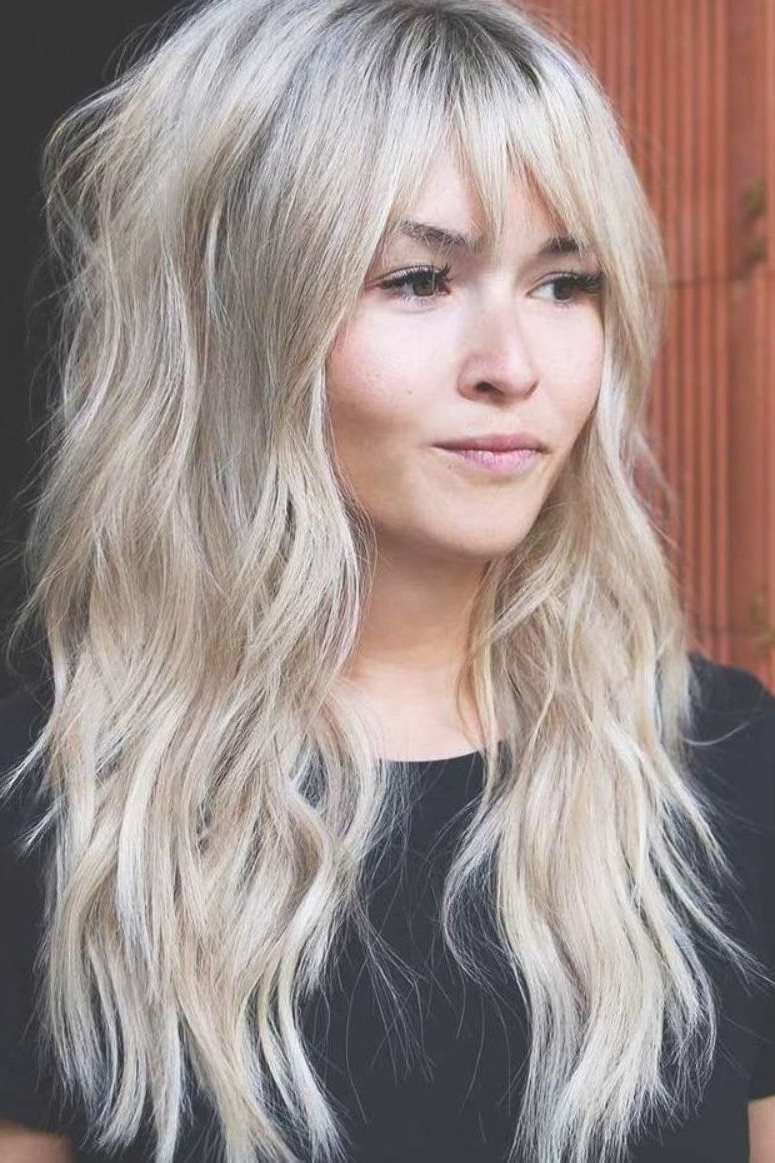 2019 Long Curly Blonde Shag Haircuts With Bangs For Pin On Hair Cuts (View 6 of 20)
