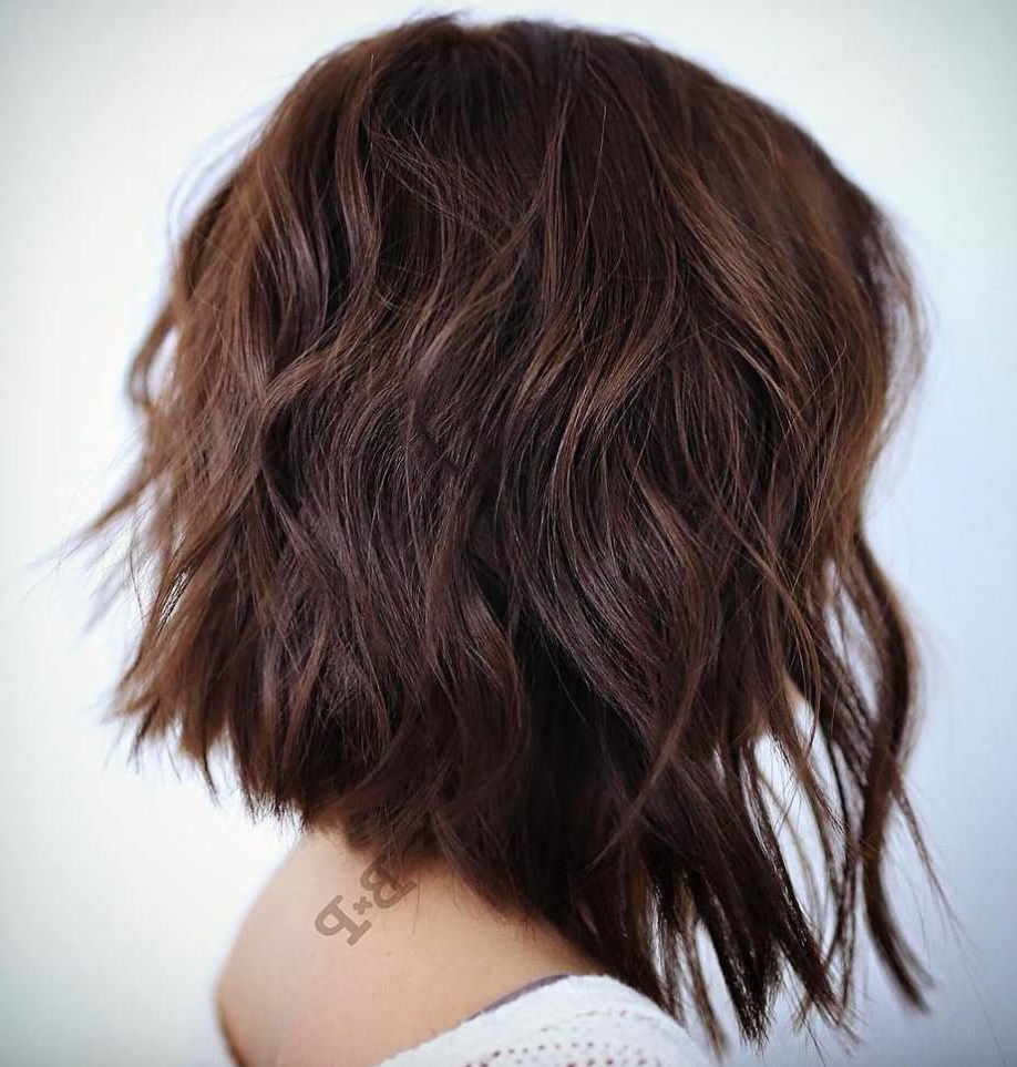 2019 Long Haircuts With Chunky Angled Layers For Pin On My Style (View 6 of 20)