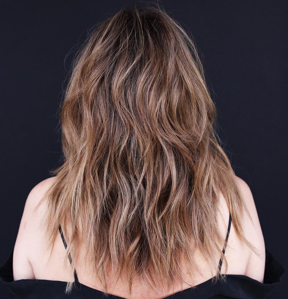 2019 Shiny Caramel Layers Long Shag Haircuts Inside How To Nail Layered Hair In 2019: Full Guide To Lengths And (View 1 of 20)