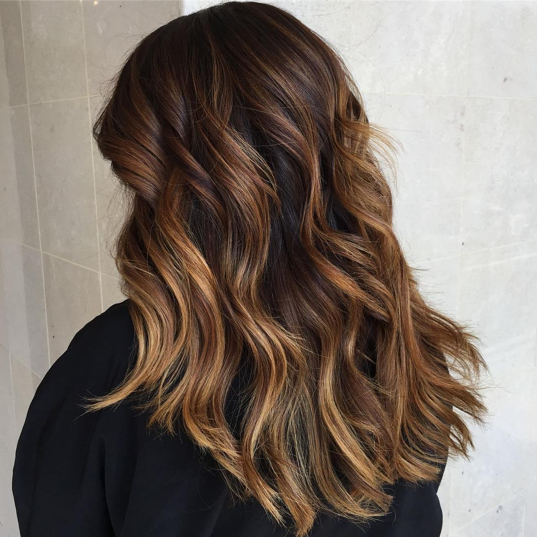 2019 Textured Shag Haircuts With Warm Brown Balayage For 50 Most Flattering Hairstyles For Thick Hair – Hair Adviser (View 1 of 20)