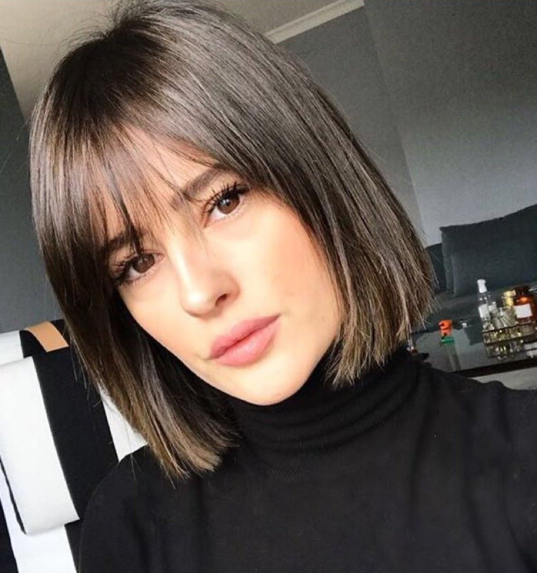 2019 Wispy Straight Finely Chopped Brunette Haircuts With Regard To Pin On Hair & Make Up (View 4 of 20)