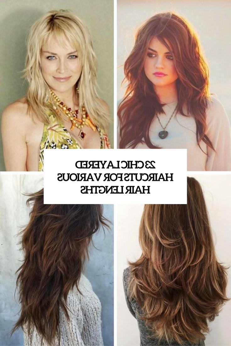 23 Chic Layered Haircuts For Various Hair Lengths – Styleoholic With Regard To Fashionable Long Shag Haircuts With Extreme Layers (View 1 of 20)