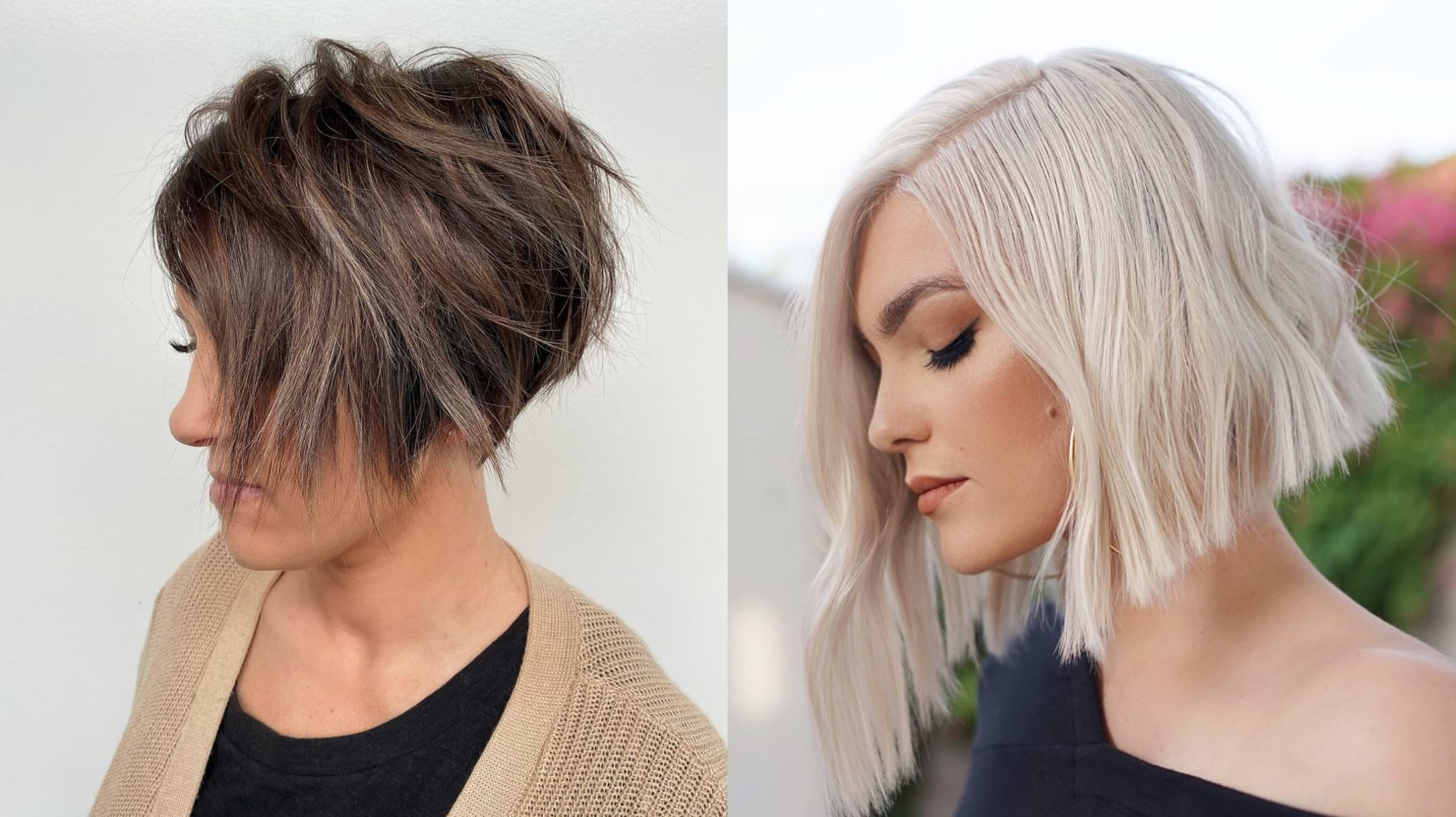 23 Perfect Short Bob Haircuts And Hairstyles In Fashionable Textured Bronde Bob Hairstyles With Silver Balayage (View 16 of 20)