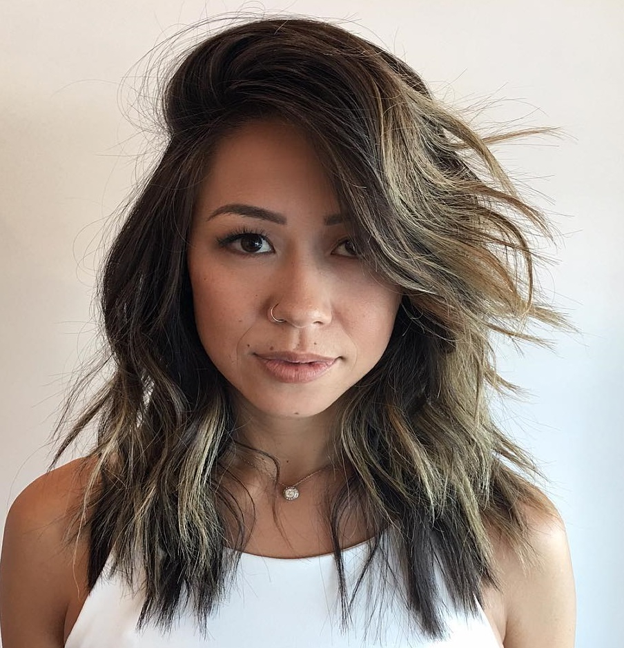 25 Fresh Medium Length Hairstyles For Thick Hair To Enjoy In In Most Recent Mid Length Feathered Shag Haircuts For Thick Hair (View 10 of 20)