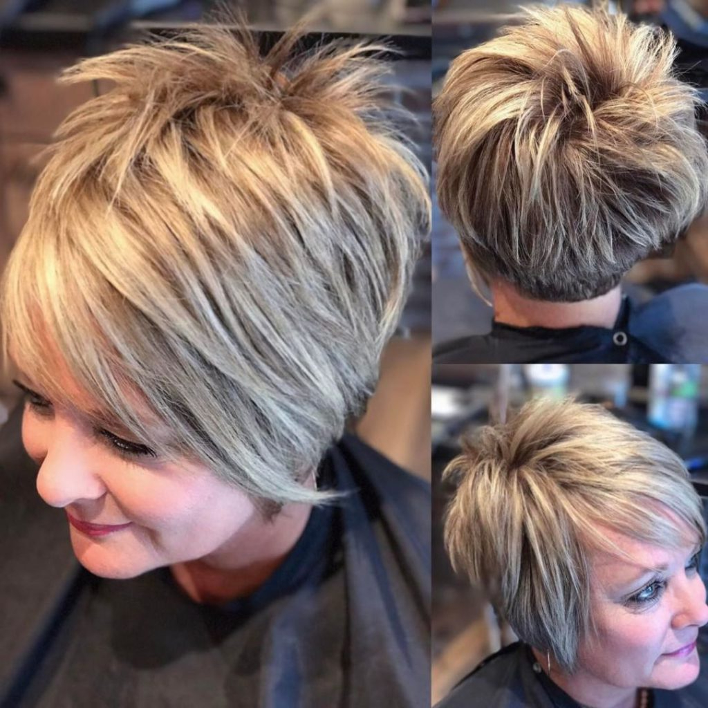 25 Most Prominent Hairstyles For Women Over 40 For V Cut Outgrown Pixie Haircuts (View 8 of 20)