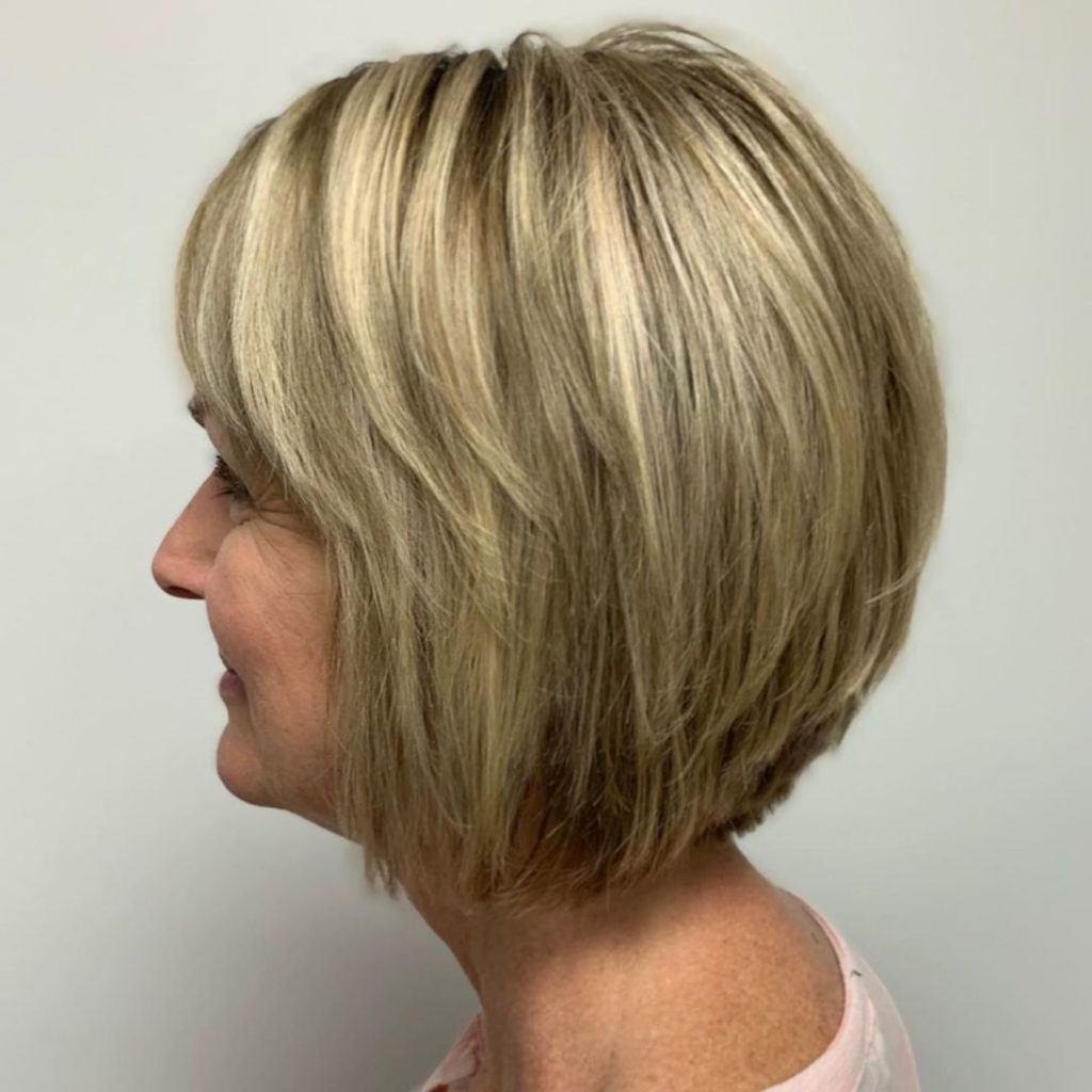 25 Most Prominent Hairstyles For Women Over 40 Pertaining To Razored Honey Blonde Bob Hairstyles (View 8 of 20)