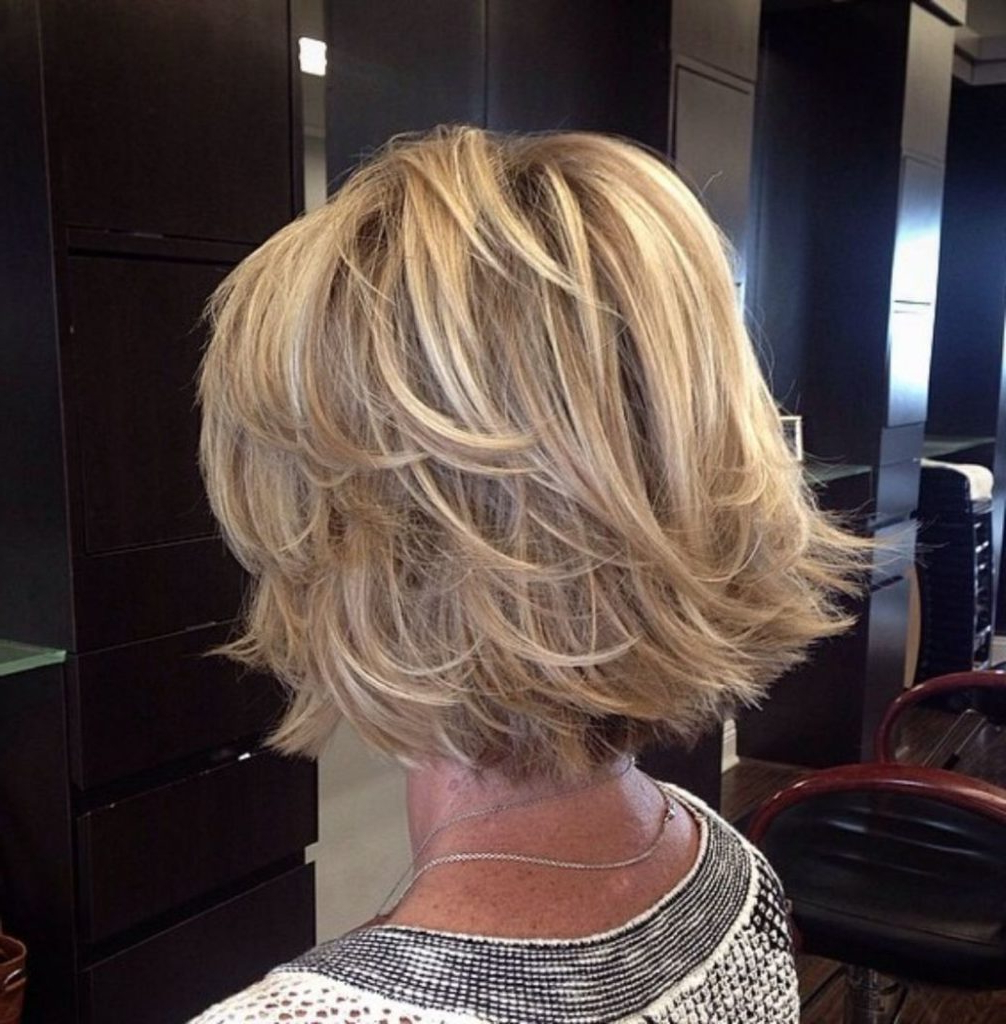 25 Most Prominent Hairstyles For Women Over 40 Regarding Razored Honey Blonde Bob Hairstyles (View 9 of 20)