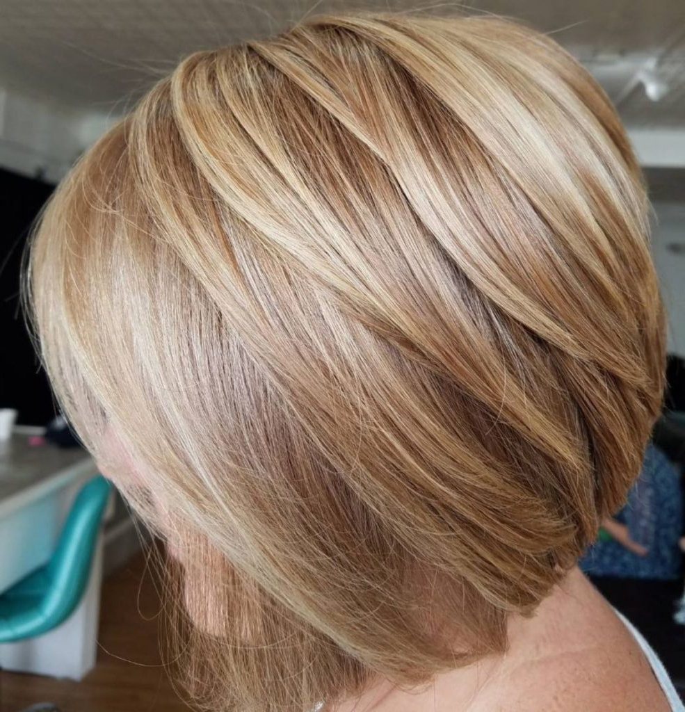 25 Most Prominent Hairstyles For Women Over 40 Throughout Razored Honey Blonde Bob Hairstyles (View 5 of 20)