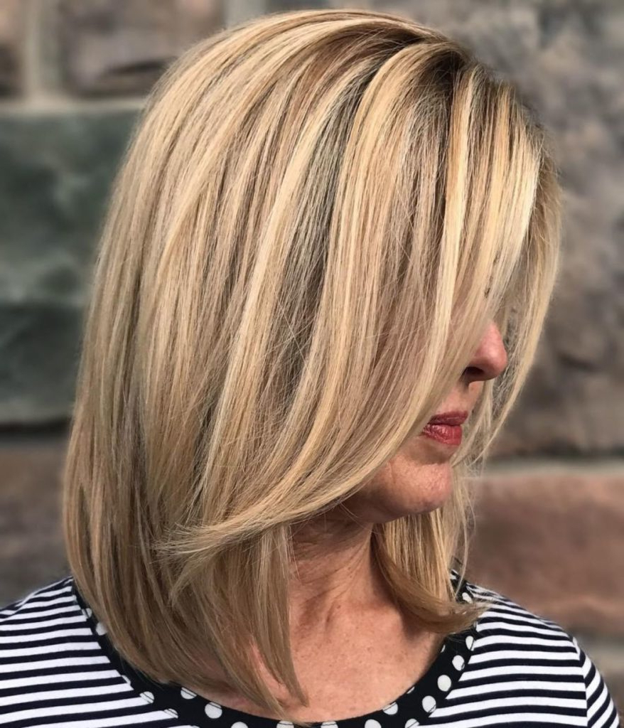 25 Most Prominent Hairstyles For Women Over 40 Throughout Razored Honey Blonde Bob Hairstyles (View 10 of 20)