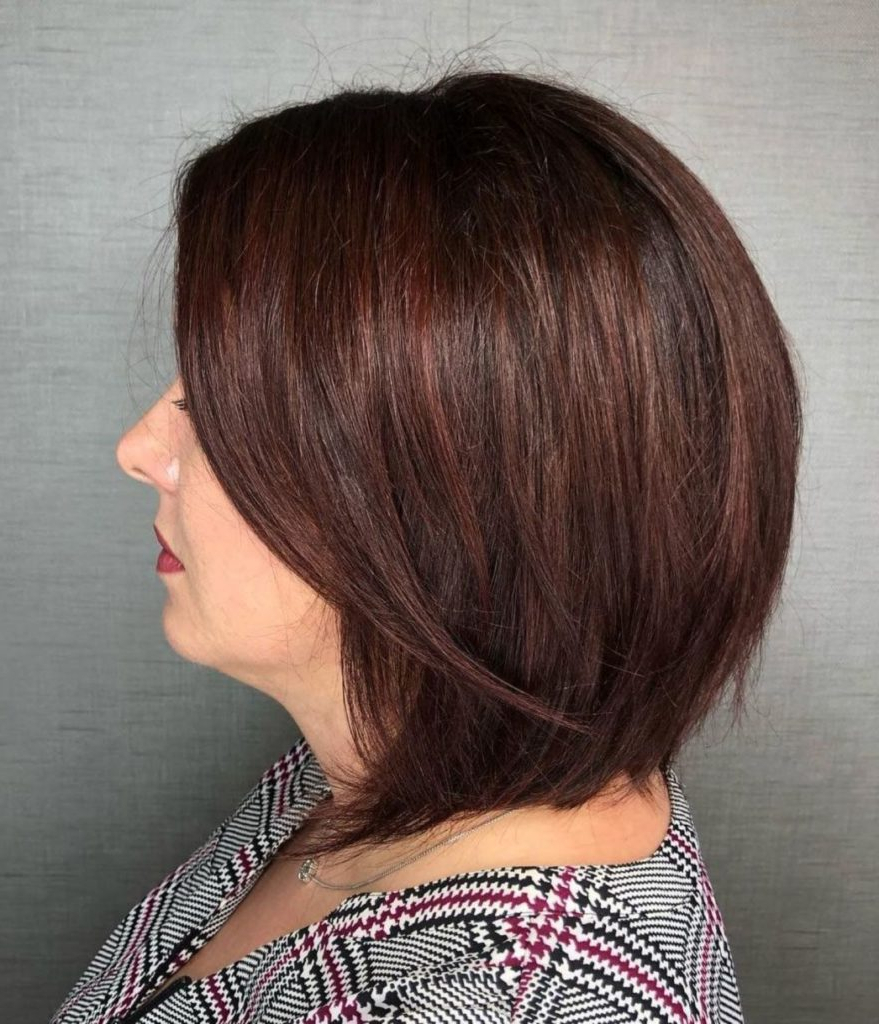 25 Most Prominent Hairstyles For Women Over 40 With Tapered Shaggy Chocolate Brown Bob Hairstyles (View 17 of 20)