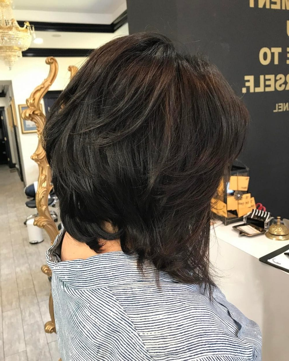 26 Modern Shag Haircuts To Try In 2019 With Tapered Shaggy Chocolate Brown Bob Hairstyles (View 11 of 20)