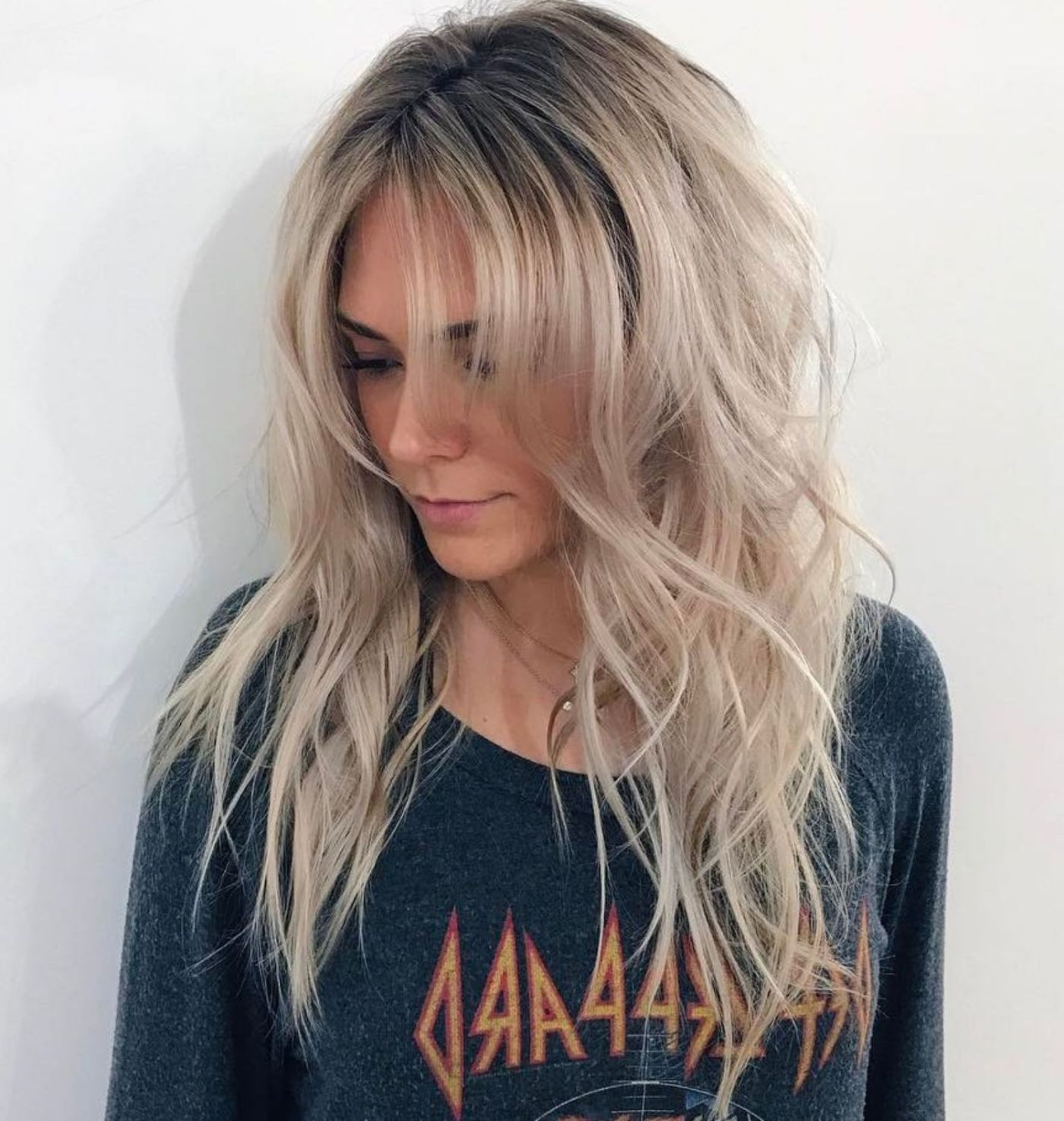 28+ Albums Of Choppy Long Layered Hair With Bangs (View 1 of 20)