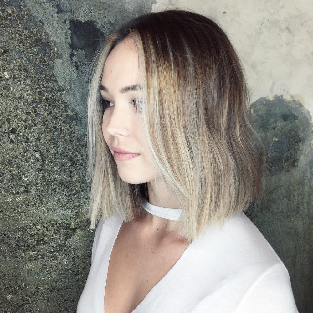 28 Most Flattering Bob Haircuts For Round Faces In 2019 For Long Bob Hairstyles For Round Face Types (View 5 of 20)