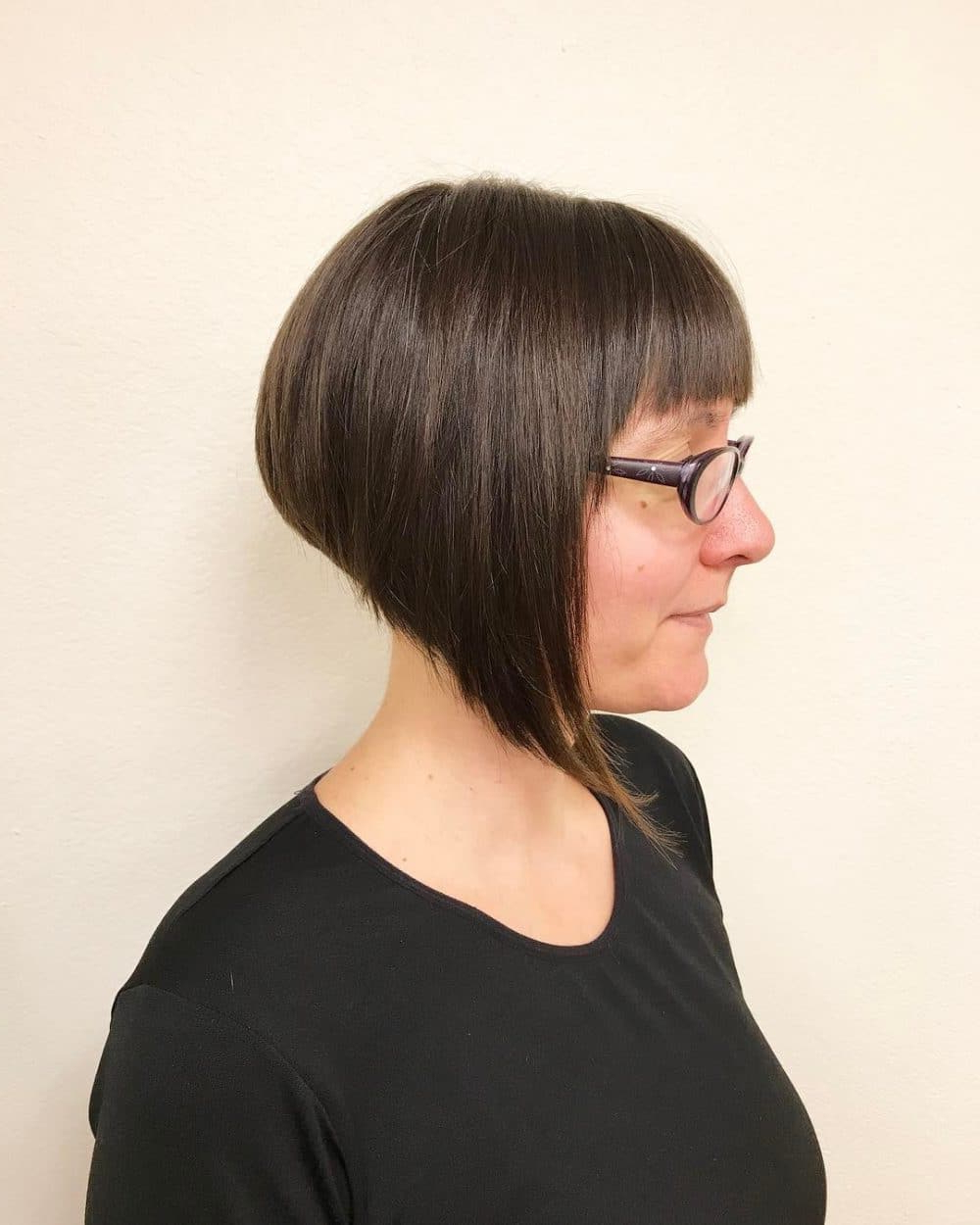 33 Hottest A Line Bob Haircuts You'll Want To Try In 2019 Intended For A Line Bob Hairstyles With Arched Bangs (View 18 of 20)