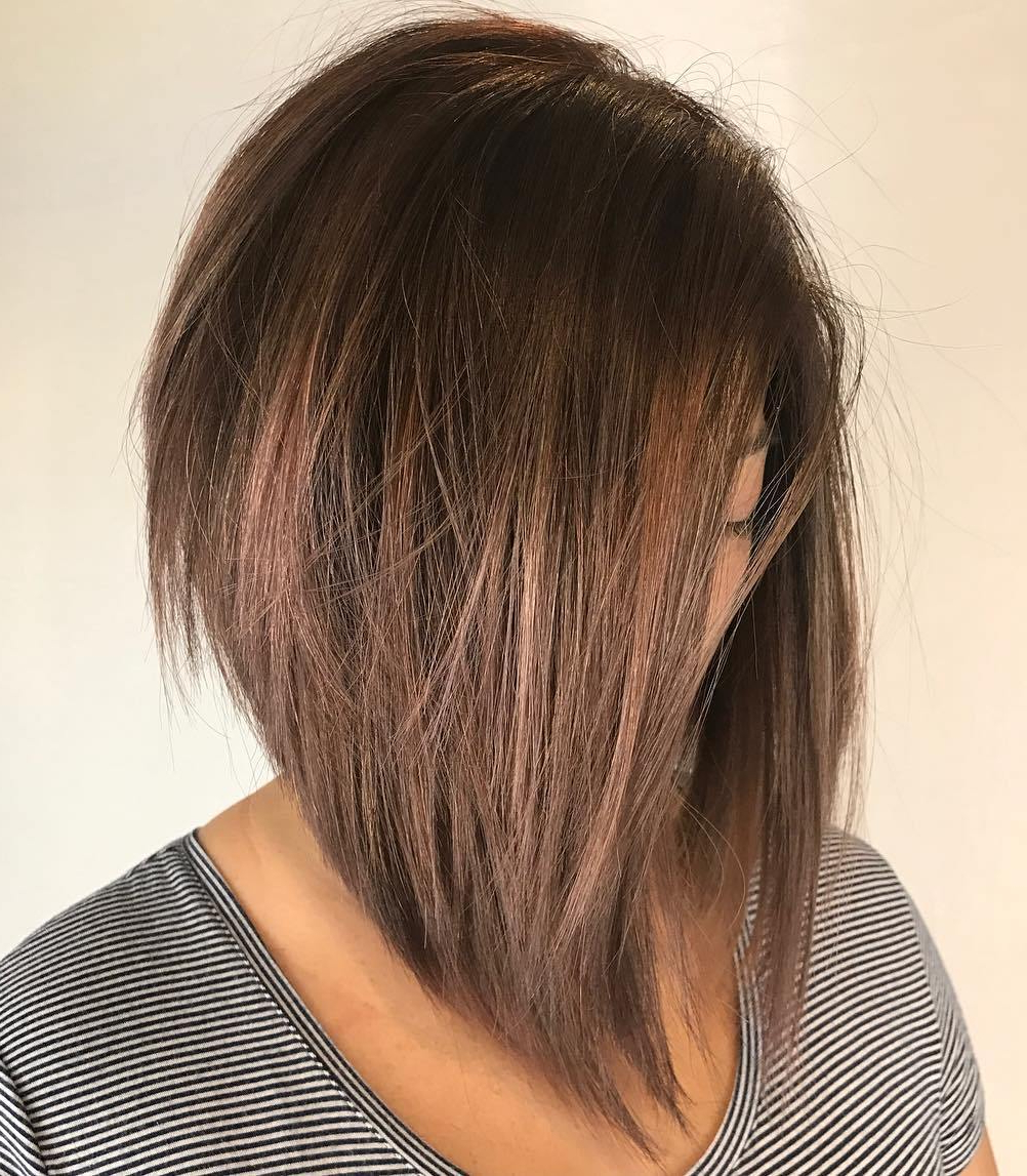 35 Killer Ways To Work Long Bob Haircuts For 2019 Intended For Angled Bob Hairstyles With Razored Ends (View 13 of 20)